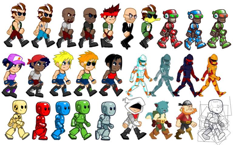 پکیج 2D Anim Heroes یونیتی