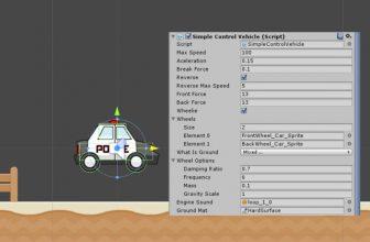 دانلود 2D Vehicle Controller یونیتی